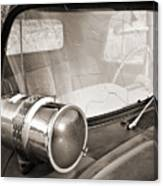 Old Police Car Siren Canvas Print