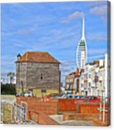 Old Portsmouth Flood Gates Canvas Print