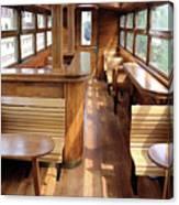 Old Railway Wagon Interior Vintage Canvas Print