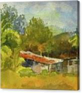 Old Ranch In Costa Rica Canvas Print