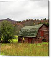 Old Red Adirondack Barn Canvas Print