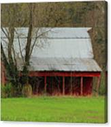 Old Red Barn In Jefferson County Canvas Print