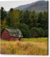 Old Red Barn In The Adirondacks Canvas Print