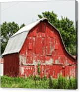Old Red Barn Johnson County Ia Canvas Print
