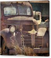 Old Red Dodge Truck Canvas Print