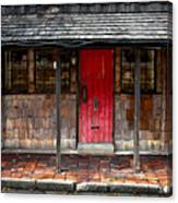 Old Red Door Canvas Print