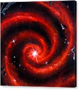 Old Red Spiral Galaxy Canvas Print