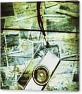 Old Retro Film Camera In Creative Composition Canvas Print