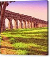 Old Roman Aqueduct Canvas Print