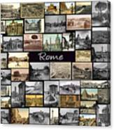 Old Rome Collage Canvas Print