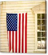 Old Rugged Field Flag Canvas Print