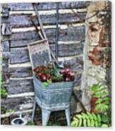 Old Rural Garden Scene Canvas Print
