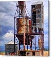Old Rusted Grain Silo - Utah Canvas Print