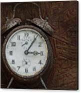 Old Rustick Clock Canvas Print