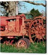Old Rusty Tractors Canvas Print