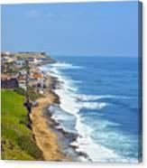Old San Juan Coastline 3 Canvas Print