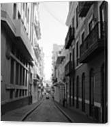 Old San Juan Puerto Rico Downtown On The Street Canvas Print