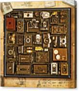 'old School' Cameras Canvas Print