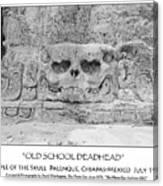 Old School Dead Head Canvas Print