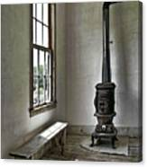 Old School House Stove Canvas Print