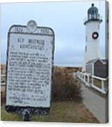Old Scituate Lighthouse Canvas Print