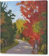 Old Scoolhouse Road Fall - Art By Bill Tomsa Canvas Print