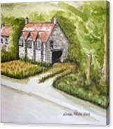 Old Scottish Stone Barn Canvas Print