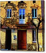 Old Semidetached Houses Canvas Print