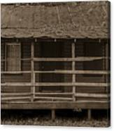 Old Shack In Sepia Canvas Print