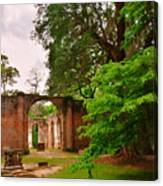 Old Sheldon Church Ruins 3 Canvas Print