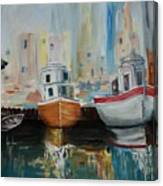 Old Ships At Dock Canvas Print
