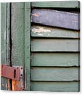 Old Shutters French Quarter Canvas Print