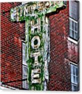 Old Simpson Hotel Sign Canvas Print