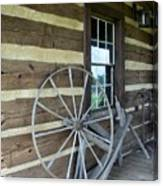 Old Spinning Wheel Canvas Print