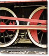Old Steam Locomotive Iron Rusty Wheels Canvas Print