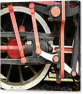 Old Steam Locomotive Wheels Canvas Print