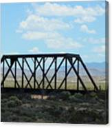 Old Steel Bridge New Mexico Countryside Canvas Print