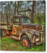 Old Still Art 1947 Ford Stakebed Pickup Truck Ar Canvas Print