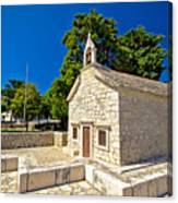 Old Stone Chapel In Primosten Canvas Print
