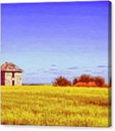 Old Stone Farmhouse Tuscany Canvas Print