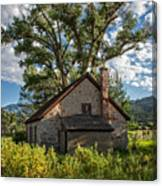Old Stone Ranch Structure Canvas Print