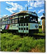 Old Street Car In Upstate New York Canvas Print