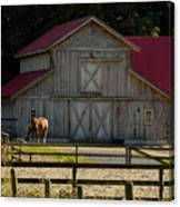 Old-style Horse Barn Canvas Print