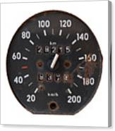 Old Tachometer Canvas Print