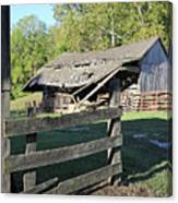Old Tilted Barn Indiana Canvas Print