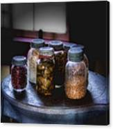Old-time Canned Goods Canvas Print