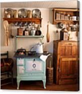 Old Time Farmhouse Kitchen Canvas Print