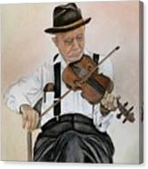 Old Time Fiddler Canvas Print