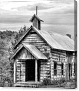Old Time Religion Bw Canvas Print