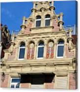 Old Town House Facade In Baden-baden Canvas Print